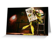 Frog News Greeting Card