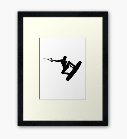 Wakeboarder Framed Print