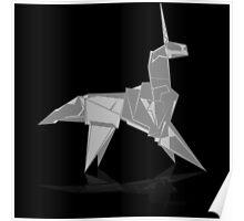 Origami Unicorn Poster