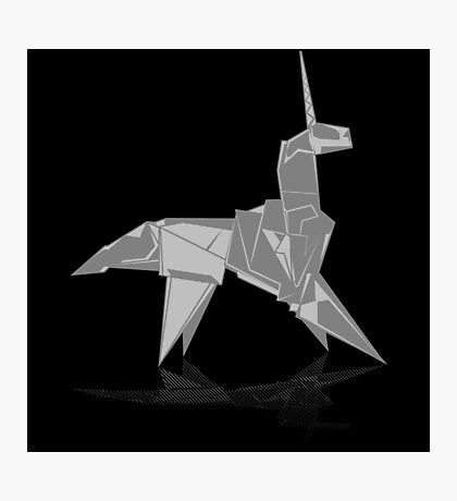 Origami Unicorn Photographic Print