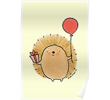 Happy Birthday Hedgehog Poster
