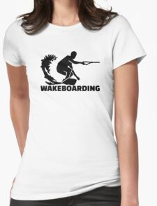 Wakeboarding Womens Fitted T-Shirt