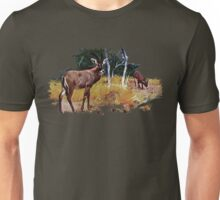 Painting of roan antelopes on the savanna Unisex T-Shirt