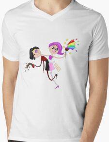 Funny siamese twins fairies. Mens V-Neck T-Shirt