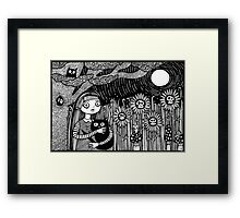 Midnight Hours and Deathly Flowers Framed Print