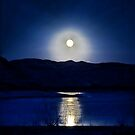 Full Moon at Flaming Gorge  by Melissa  Hintz
