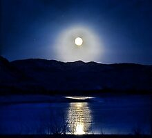 Full Moon at Flaming Gorge  by Melissa  Hintz