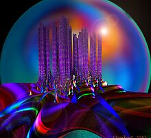Vivacious City at Night by Julie Everhart