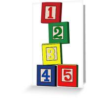 Toy Blocks Greeting Card