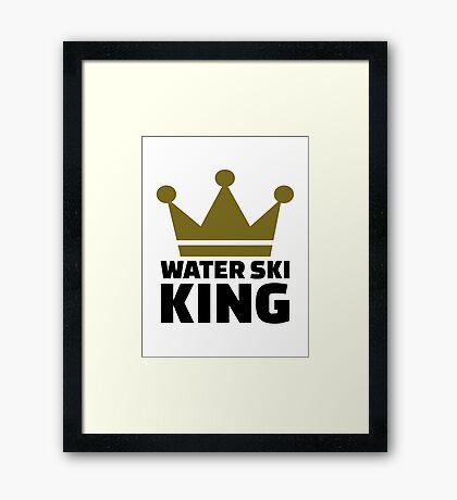 Water ski King Framed Print