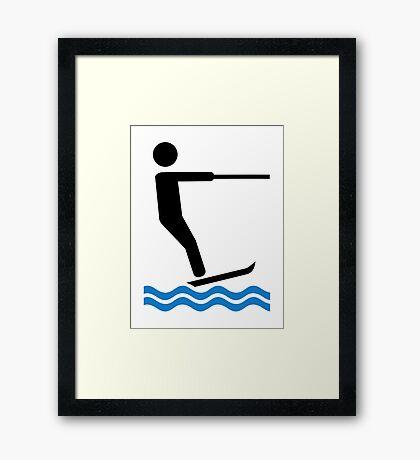 Water ski Framed Print
