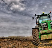 Tractor Ploughing by Dave McAleavy