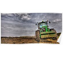 Tractor Ploughing Poster