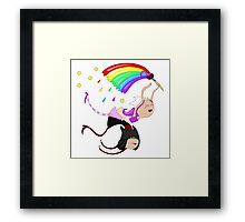 Funny siamese twins fairies. Framed Print