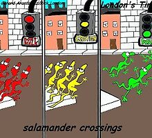 Salamander Crossing by Londons Times Cartoons by Rick  London