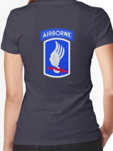 173rd Airborne Brigade Combat Team (US Army) Women's Fitted V-Neck T-Shirt