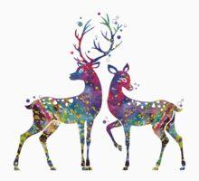 Deer Love Illustration Watercolor Kids Clothes
