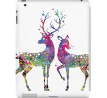 Deer Love Illustration Watercolor iPad Case/Skin