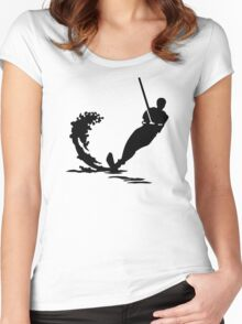 Water skiing Women's Fitted Scoop T-Shirt