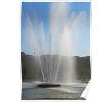 Big Water Fountain ,Drumheller Alberta,Canada Poster