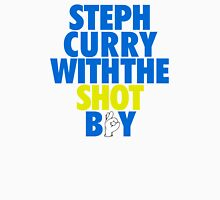 Steph Curry With The Shot Boy [With 3 Sign] Blue/Gold Unisex T-Shirt