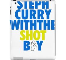 Steph Curry With The Shot Boy [With 3 Sign] Blue/Gold iPad Case/Skin