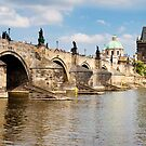 Charles Bridge Prague Panorama by ianwoolcock