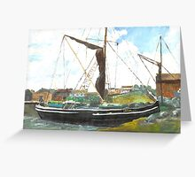 Sailing Barge at rest Greeting Card