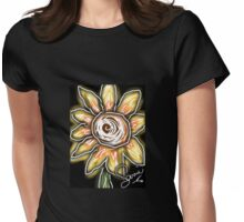 Night of the sunflowers Womens Fitted T-Shirt