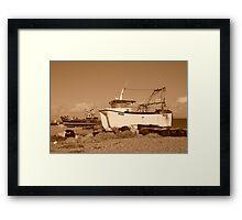 Dungeness boats, England Framed Print