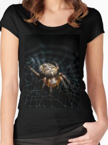 Spider on the Web  Women's Fitted Scoop T-Shirt