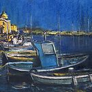Evening Falls on Procida Fleet by Randy Sprout