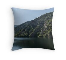 Steep Shores and Green Summer Light - a Mountain Lake Impression Throw Pillow