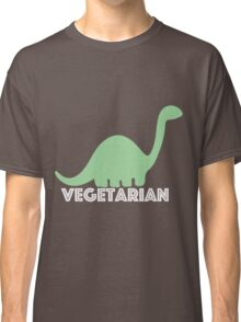 Vegetarian Dinosaur Logo Classic T-Shirt