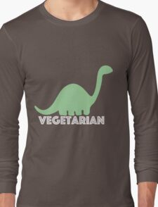 Vegetarian Dinosaur Logo Long Sleeve T-Shirt