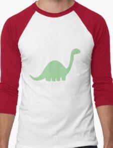 Vegetarian Dinosaur Logo Men's Baseball ¾ T-Shirt