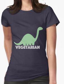 Vegetarian Dinosaur Logo Womens Fitted T-Shirt