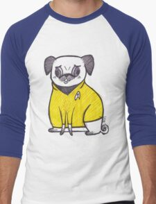 Yellow Shirt - Pug Trek Men's Baseball ¾ T-Shirt