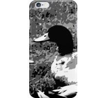 Mallard Ducks Artwork in Black, Gray and White iPhone Case/Skin