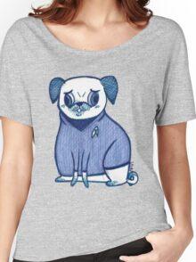 Blue Shirt - Pug Trek Women's Relaxed Fit T-Shirt