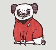 Red Shirt - Pug Trek Womens Fitted T-Shirt