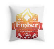 Pokemon - Ember Heating Services (Distressed) Throw Pillow