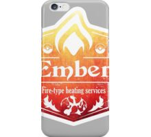 Pokemon - Ember Heating Services (Distressed) iPhone Case/Skin