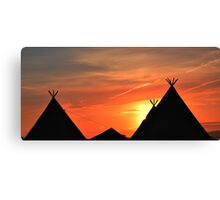 Glastonbury Tipi's Canvas Print