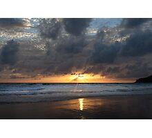Sunset on Karon Beach Photographic Print