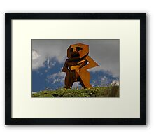 Rusty Man, Sculptures By The Sea, Australia 2010 Framed Print
