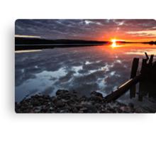 """Winter Sunset"" Canvas Print"