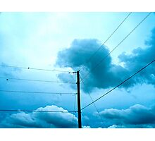 Blue on the Line Photographic Print