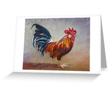 Portrait of Michael's Rooster Greeting Card