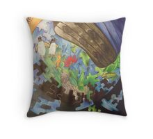Endangered Earth Throw Pillow